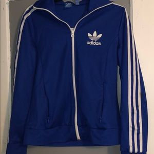 Women adidas zip up hoodie